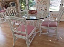 Rattan Table & Chairs