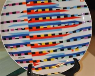 Yaacov Agam limited edition plate artist proof 53/100