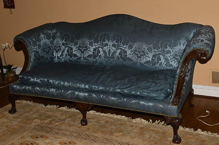 10. George II Style Camelback Sofa