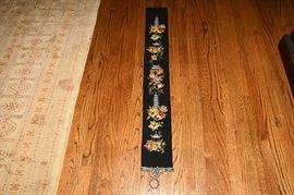11.Black Needlework Bell Pull Panel