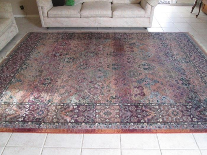 "Area Rug from the ""Old Masters Collection"", Made in Egypt, 8' x 11' in warm colors"
