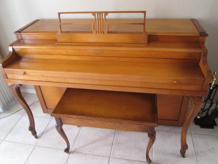 Piano & Bench by Lester, Philadelphia, USA