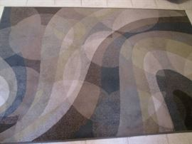 "Area Rug in Multi-Colors and Abstract Design,             Size 5'3"" X 7'10"""