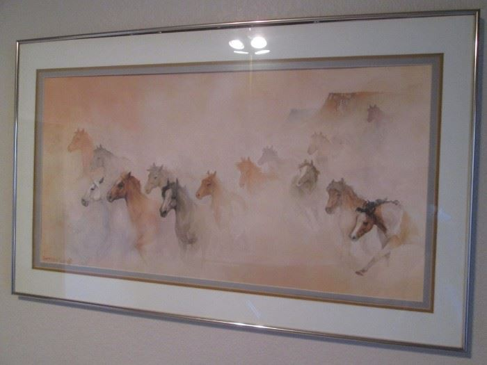 Framed Art Work Horse-Themed, from Sedona Artist Jeffrey Lunge'