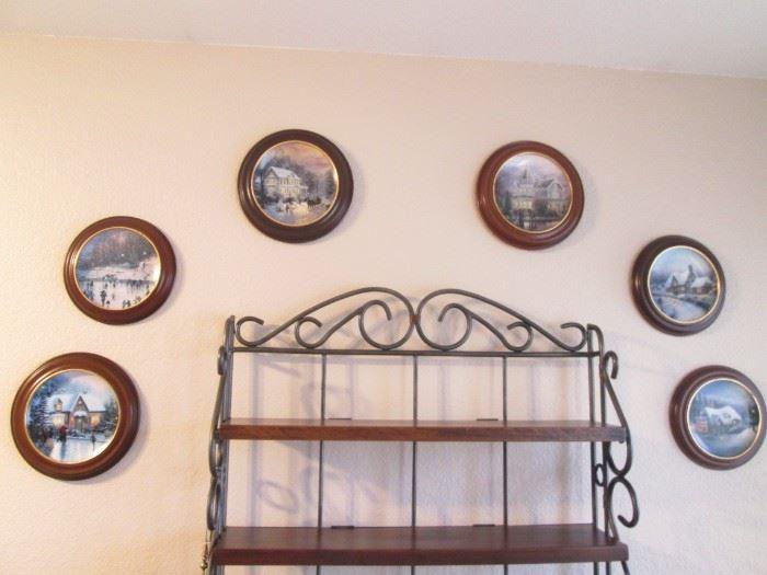 6-Framed Thomas Kinkade Collectible Plates
