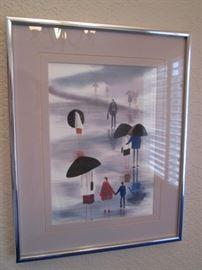 Framed Art Signed K. Phillips