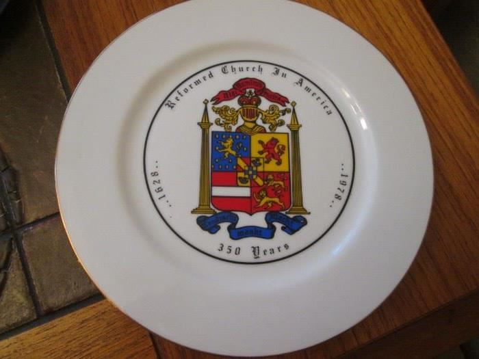 """""""Reformed Church in America"""" Coat of Arms, 1977        First Edition Collectors Plate"""