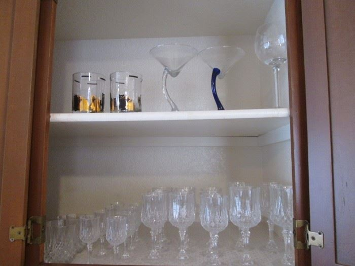 Assorted Stems, Glass Ware