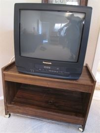 Panasonic TV on Rolling Cart
