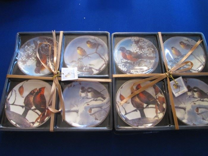 Bird-Themed Coasters, Boxed in 2-Sets