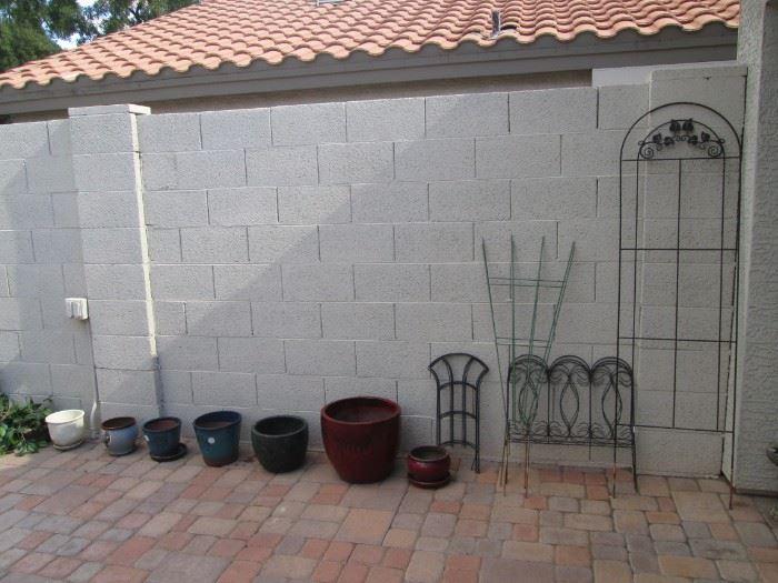 Yard Decor, Trellises and Pots for Planting