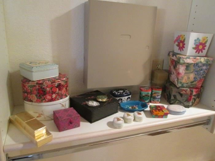 Tins and other Decorative Boxes