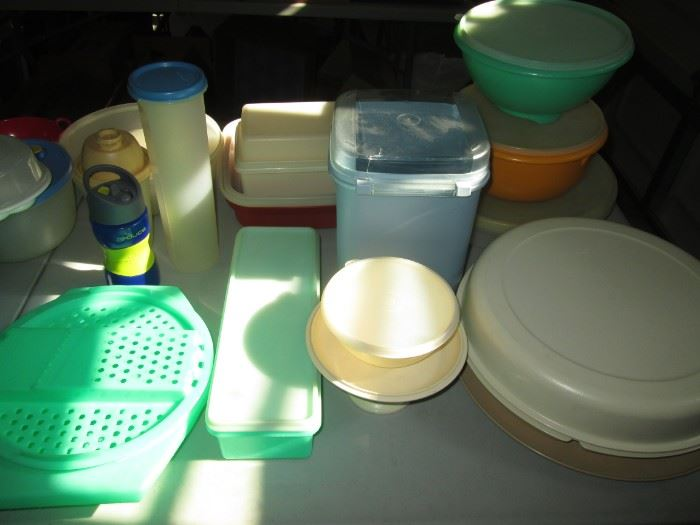 Plastic Ware, some is Tupperware