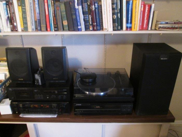 Yamaha Stereo Cassette Deck #KX150                                   Pioneer Receiver #VSX-51                                                             Pioneer CD Player #CLD-980                                                               Yamaha Stereo Turntable #TT400-U                                                  Speakers #KEF Q Series