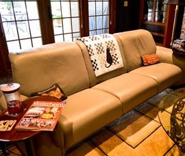 Leather couch contemporary modern