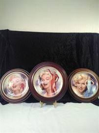 Framed Marilyn Monroe plates