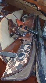 Rifles, pistols and shotguns and ammo