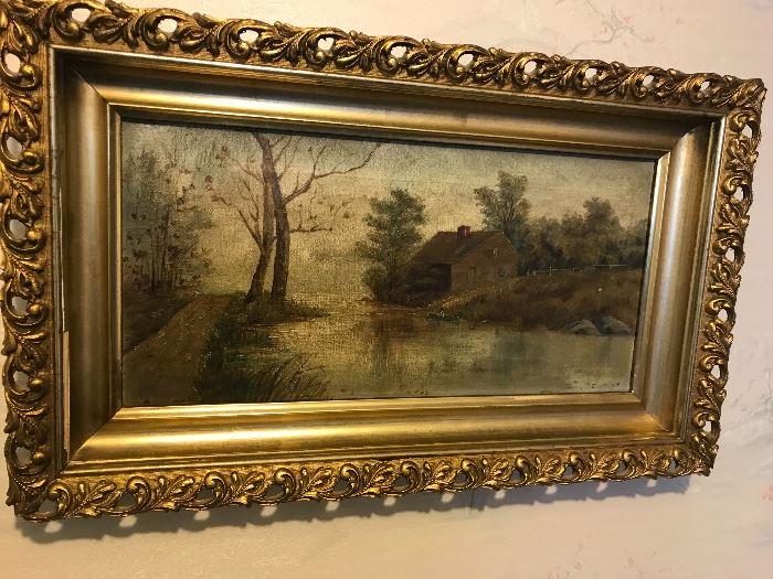 19th century oil on canvas, landscape