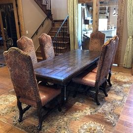 Dining table - there are 8 chairs