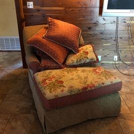 Kincaid custom upholstered chaise lounge