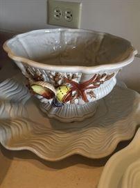 seashell inspired bowl & platter