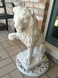 Lion yard ornament