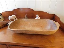 Antique Wooden Dough Bowl
