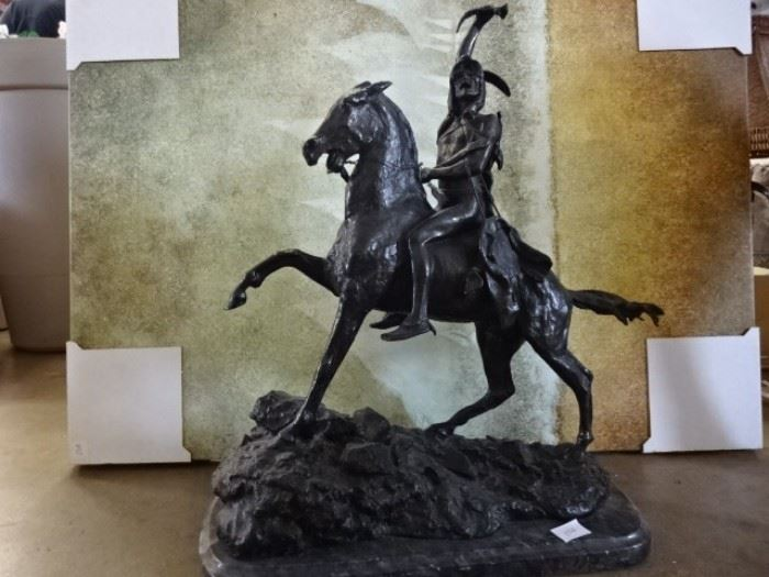 Bronze Indian on Horse