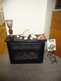 small fireplace / real shells