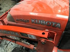 2012 Kubota BX2660 Tractor - 1 owner bought new 3/2/2012  - 246 hours - front loader- box- blade and more