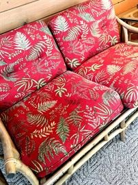 Out In The Four Season Room There Is A Really Neat Broyhill Rattan Set...Including This Two Cushion Loveseat...