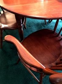 A Wonderful Maple Dinette Set...With Four Chairs, Two Leaves...and Table Pads!...