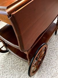 Coffee? Tea?...We Have A Cart! Pretty Drop Side Harden Serving Cart...