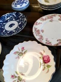 A Mix of China and Painted Plates...