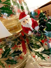 Libbey Glasses...and Santa!...