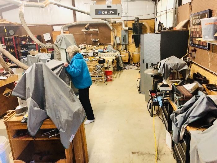 Contents of entire woodworking shop must go