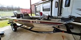 1998 Bass Tracker Pro 165 Fishing Boat in great working condition!