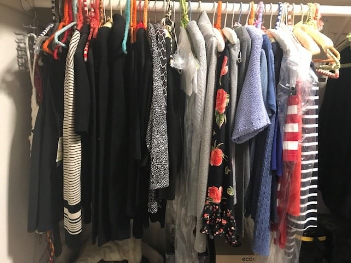•A FULL BEDROOM with Walk in Closet of vintage clothing and designer clothing, shoes and handbags. Some Designer Brands include: St. John, Escada, Burberry's, LA Gear (80's), Ralph Lauren, Bill Blass, Lilly Pulzar, Saks 5th Ave, London Fog, etc…
