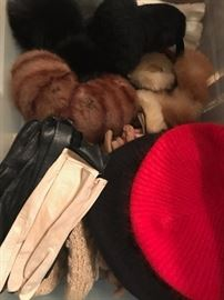 vintage hats and gloves