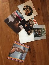Lps , records Beatles, Beach boys, rock n roll
