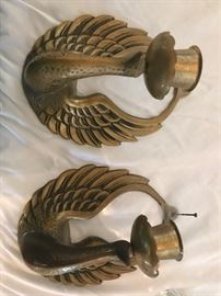 vintage brass art deco birds