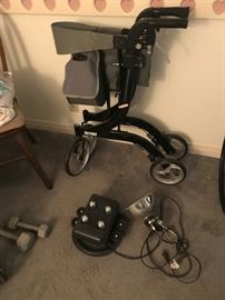 •	Entire Room of state-of-the-art Handicap equipment including a $3000.00 M300 Permobil leather motorized wheelchair, new wheelchairs, bathroom wheelchair, home batching and bed devices for handicap, blood pressure machine, home medical devices and equipment