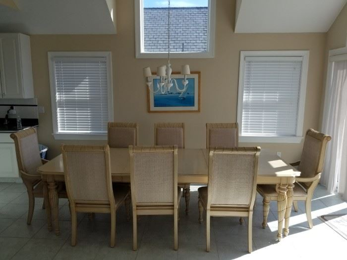 Great dining table & chairs made by Kemp Industries