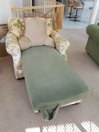 Broyhill chair & ottoman (with protective slipcover)