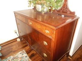 Antiques Large Dresser and Mirror