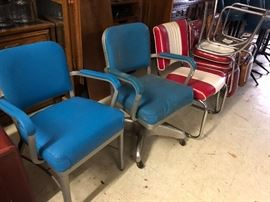 Vintage chrome & metal chairs of all types