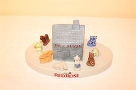Ware Red Rose Tea Pet Shop & Figurines