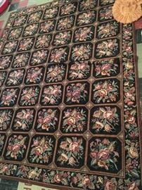 Large beautiful Roses needlepoint style rug