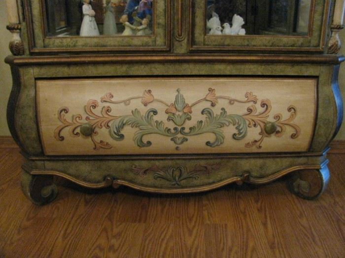 Pulaski Hand Painted Hutch with Drawer