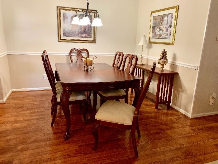 Dining set was $4,500 ONE YEAR AGO. USED GENTLY FOR 1 YEAR BY 90YEAR OLDS